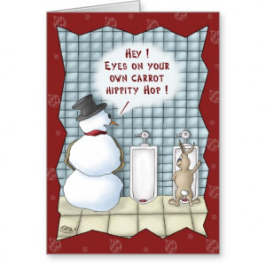 Funny Christmas Cards: Privacy Please