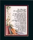 For My Son on Graduation Day, #141, Touching 8x10 Poem, Double-matted ...