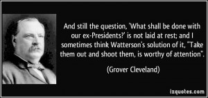 More Grover Cleveland Quotes
