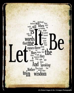 The Beatles Let It Be Lyrics