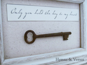 Only You Hold the Key to My Heart - Skeleton Key Art