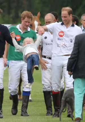 Prince William & Prince Harry Play Polo
