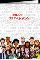 Congratulations - Happy Anniversary card - Product #950594