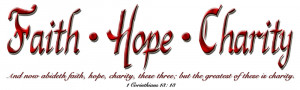 Faith Hope Charity Clipart
