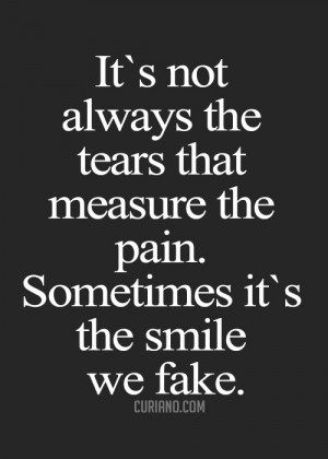 ... Sorrow Behind A Smile With These 29 Comforting #Fake #Smile #Quotes