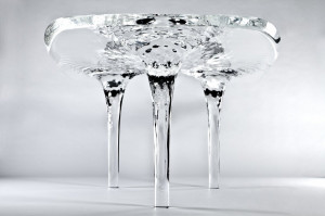 Liquid Glacial' table by Zaha Hadid