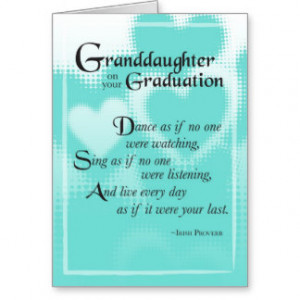 3739 Granddaughter Graduation Dance Cards
