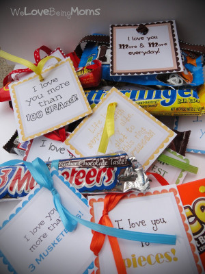 so because i love little notes and i especially love chocolate i ...