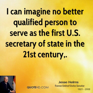 can imagine no better qualified person to serve as the first U.S ...