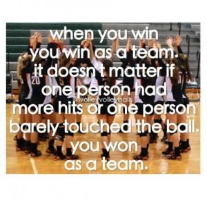 ... is so true!!! Remember work as a team play as a team win as a team