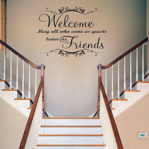 ... » Home Decor » Welcome may all who came as guest quote wall decals