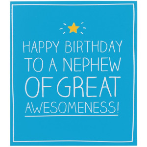 Happy Jackson Happy Birthday Nephew of Great Awesomeness! Card