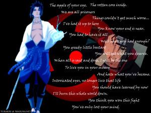 itachi sasuke quotes For Desktop