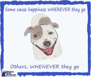 Pit Bull Friday Wishes You Very Happy Weekend Sketch Funny