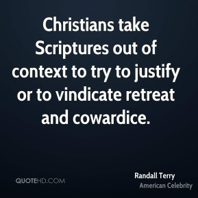 Randall Terry - Christians take Scriptures out of context to try to ...