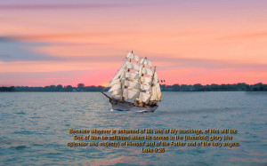 Christmas Cards 2012: Natural Sailing in Sea Bible Verse