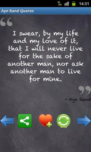 View bigger - y - Ayn Rand's & Quotes for Android screenshot