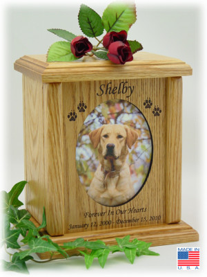 Dog Urn Pet Memorial Wooden