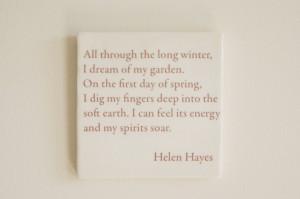 helen hayes garden quote
