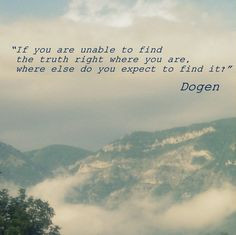 Dogen quote More