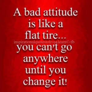 Bad attitude :-( -> :-)