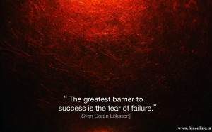 Motivation for Barrier to Success