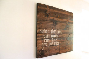 Custom quote sign Wooden Sign Wall Decor Wall by SignsFromScraps, $140 ...
