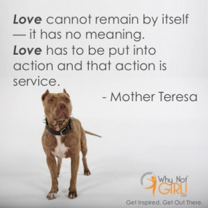 "... that action is service."" – Mother Teresa community service quote"