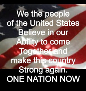 Lets bring this country together.