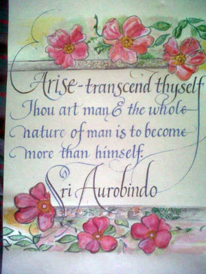 Quote by Sri Aurobindo, on his birth anniversary!!