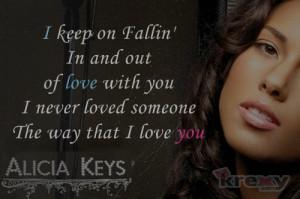 Alicia Keys Quotes - Fallin' With Lyrics - Alicia Keys | Krexy Living