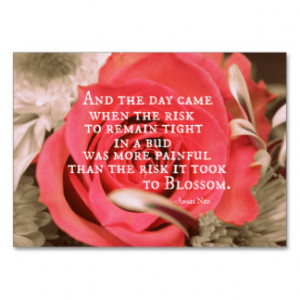... Life Quote about Risk Anais Nin Large Business Cards (Pack Of 100