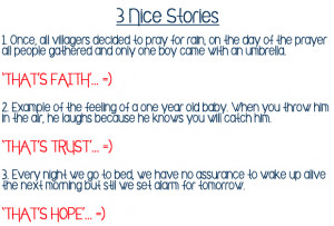stories about faith trust and hope