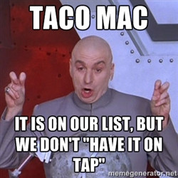 Dr. Evil Air Quotes - Taco Mac It is on our list, but we don't