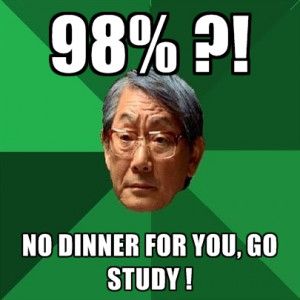98% ?! No Dinner For You, Go Study !