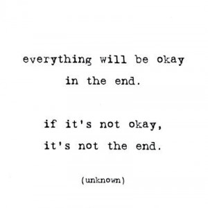 everything, everything will be okay, love, mfrases, okay, quote, type ...