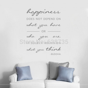 buddha wall quote decal happiness relies on what you think buddhism ...