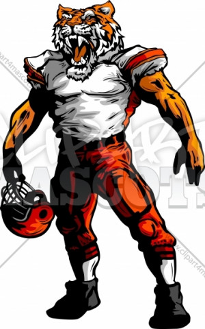 Football Tiger Clipart
