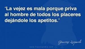 Frases de vejez de Giacomo Leopardi