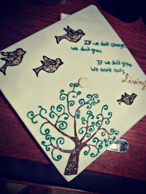 Use preschool Graduation cap for High School Graduation decoration