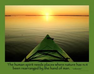 Green Kayak Sunset Photo, Inspirati onal Nature Quote, 10x8 matted to ...