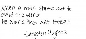 noticed there was not any Langston Hughes on here, and I got a ...