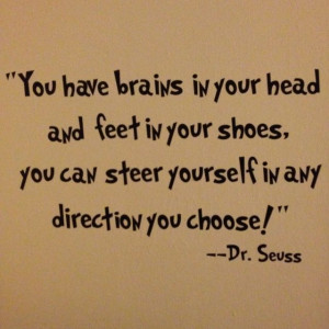 Dr Seuss quote. Inspiration!