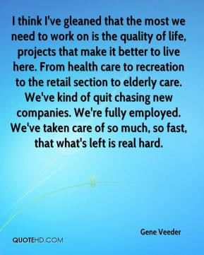 here. From health care to recreation to the retail section to elderly ...