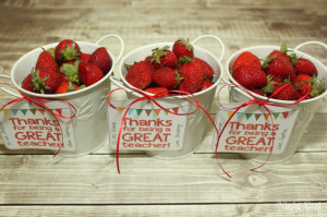 Fresh Strawberry Teacher Appreciation Gift and Printable Tags