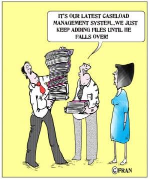 Social care cartoon: 'a caseload management revolution'