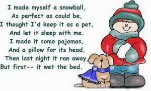 made myself a snowball,