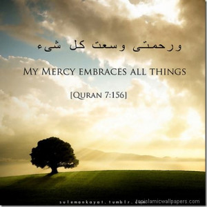 Quotes, Mercy Embrace, Allah Mercy, Bison, Quran 7 156, Quran Quotes ...