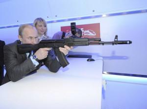 Putin testing out new Gun shooting simulator at research facility ...