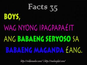 Tagalog Quotes Patama Sa Malandi ~ fact35.jpg